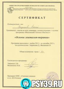 Основы гештальт-терапии. Московский Гештальт Институт 2013.