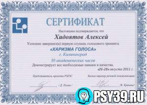 Харизма голоса. Московский центр психологии и развития. 2011