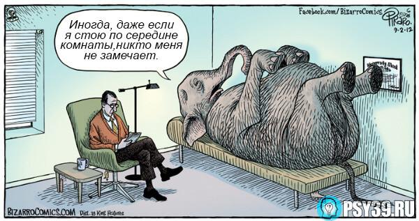 Слон на приёме у психоаналитика